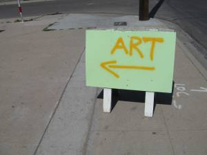 Art this way...