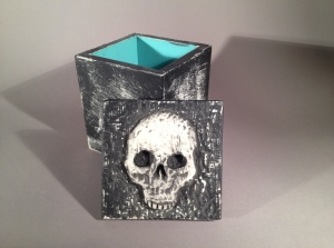 Skull Box photographed against the seamless backdrop.